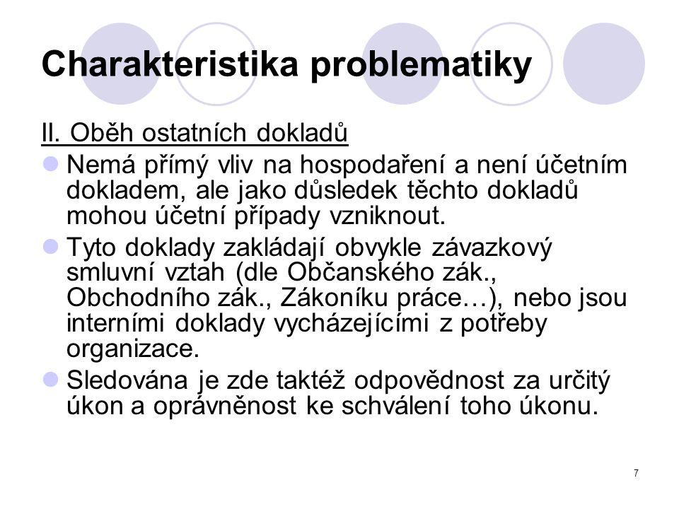 7 Charakteristika problematiky II.