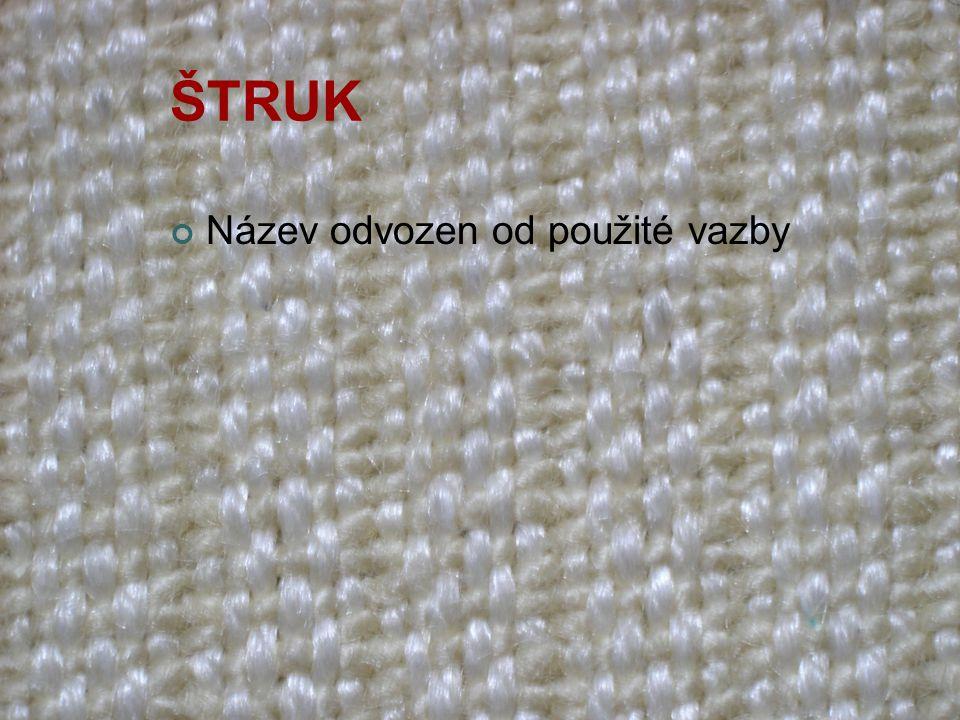Vaflová tkanina Název podle vazby tkaniny Charakteristické plastické čtverce