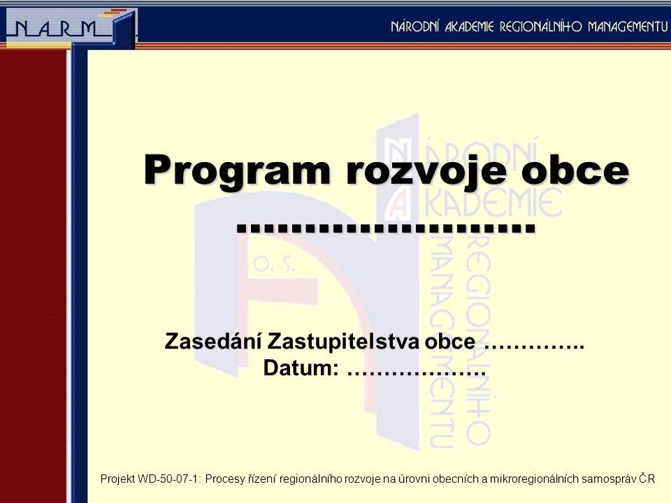 Poslání obce, podstata existence obce Zákon č.128/2000 Sb., o obcích § 2, odst.