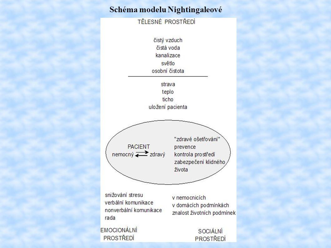Schéma modelu Nightingaleové