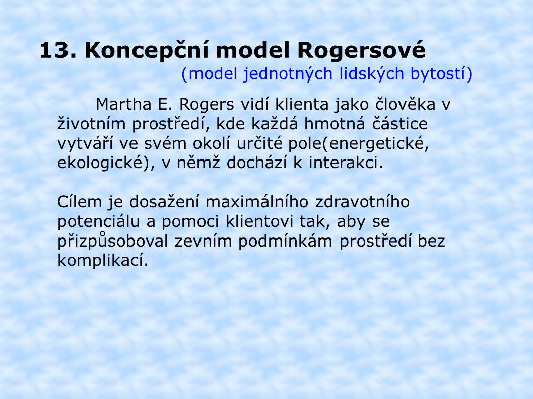 13. Koncepční model Rogersové (model jednotných lidských bytostí) Martha E.