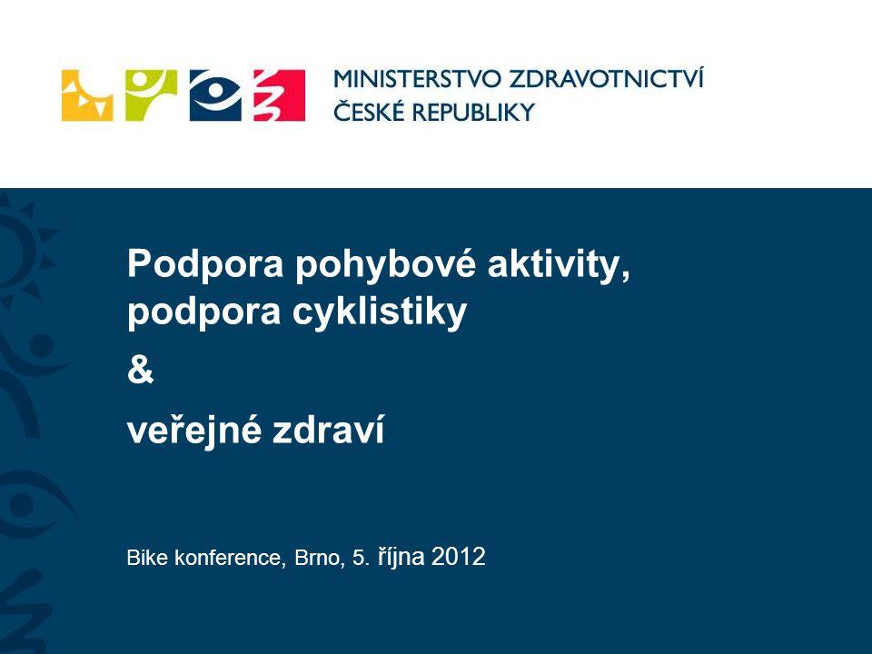 Podpora pohybové aktivity, podpora cyklistiky & veřejné zdraví Bike konference, Brno, 5. října 2012