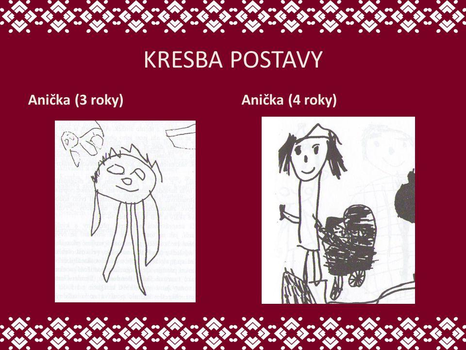 KRESBA POSTAVY Anička (3 roky)Anička (4 roky)