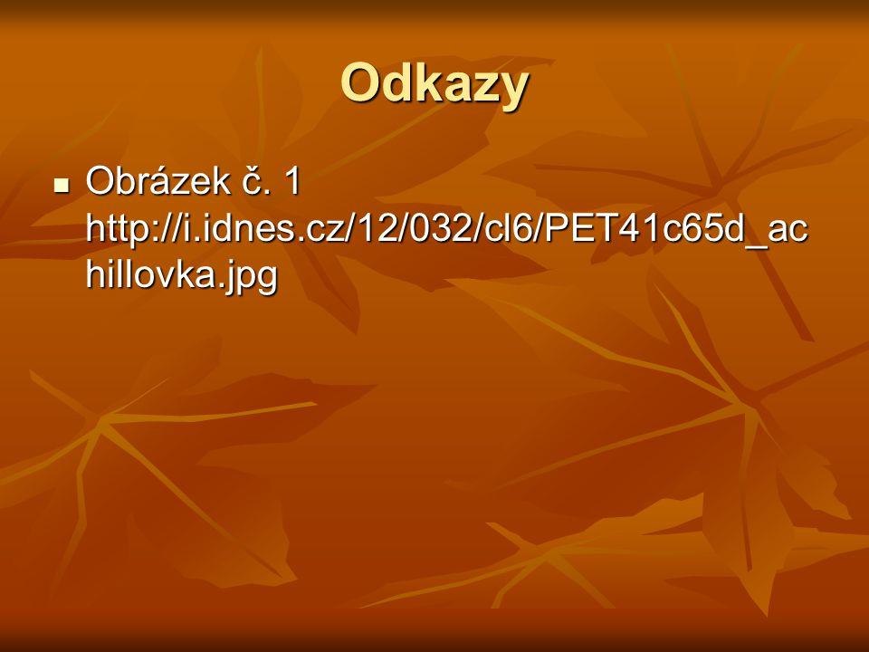 Odkazy Obrázek č. 1 http://i.idnes.cz/12/032/cl6/PET41c65d_ac hillovka.jpg Obrázek č.