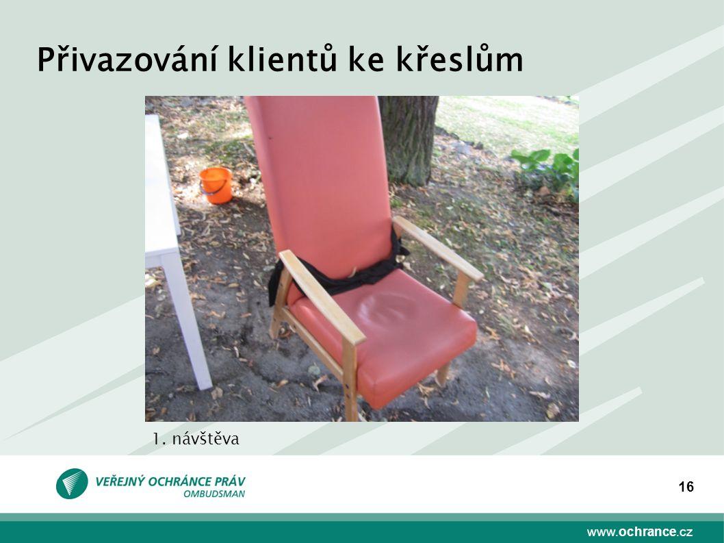 www.ochrance.cz 16 Přivazování klientů ke křeslům 1. návštěva