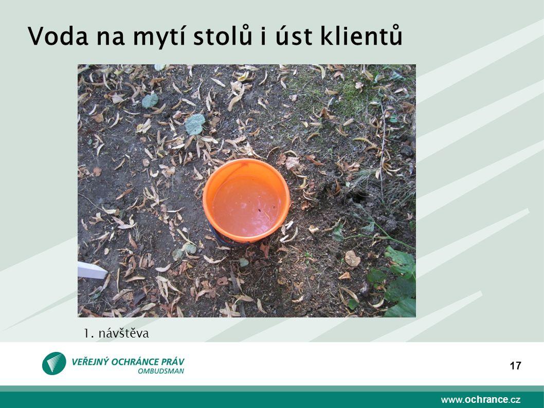 www.ochrance.cz 17 Voda na mytí stolů i úst klientů 1. návštěva