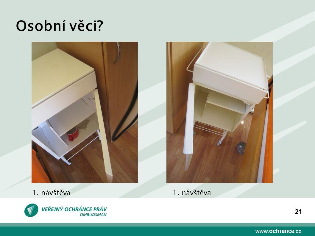 www.ochrance.cz 21 Osobní věci 1. návštěva