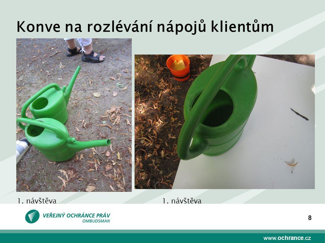 www.ochrance.cz 8 Konve na rozlévání nápojů klientům 1. návštěva