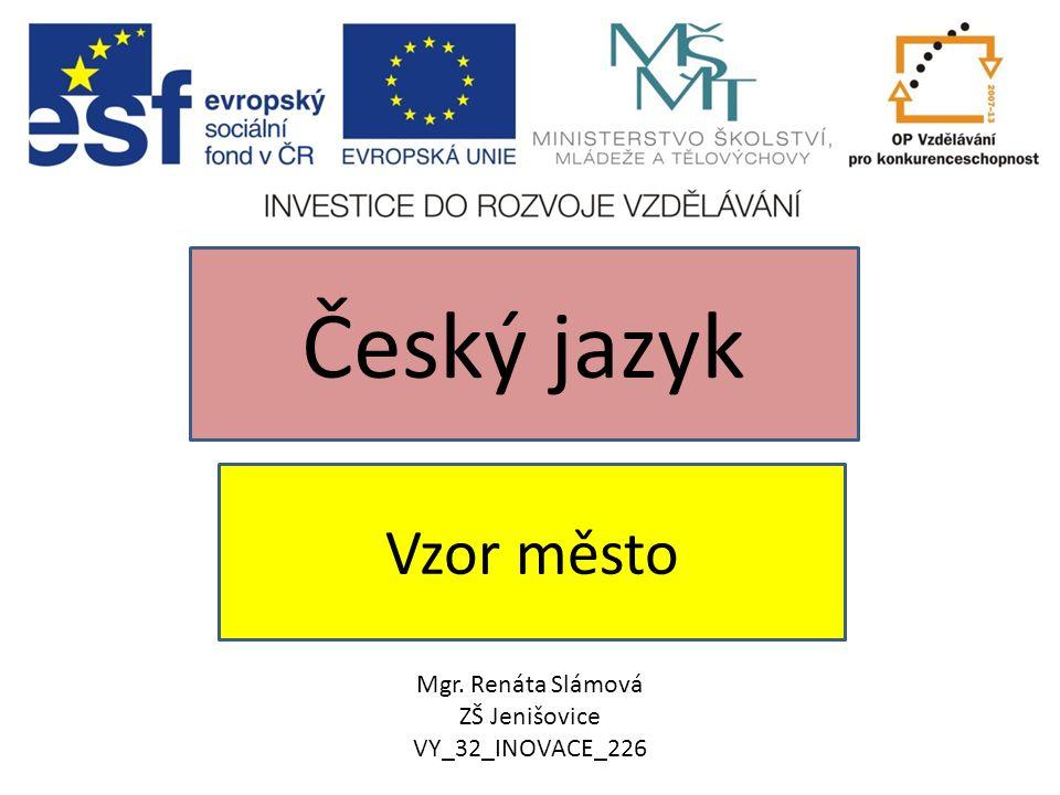 Vzor město Český jazyk Mgr. Renáta Slámová ZŠ Jenišovice VY_32_INOVACE_226