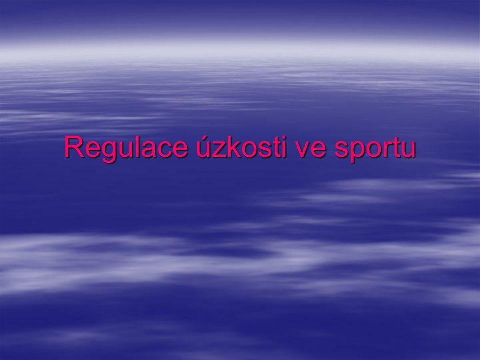 Regulace úzkosti ve sportu