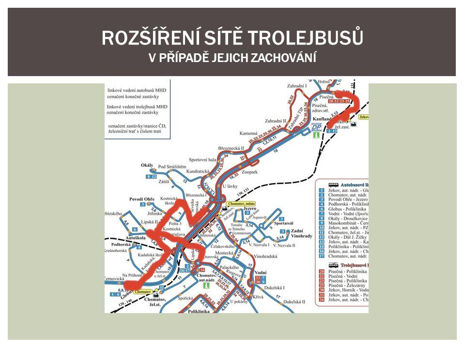  Prodloužení všech linek z Písečné ke Kauflandu, zrušení linky 2, která tím ztratila smysl  Zavedení rychlého spojení z centra Chomutova do Jirkova po silnici 1/13 k novému terminálu a poté na jirkovské autobusové nádraží a na točnu Jirkov, Horník.