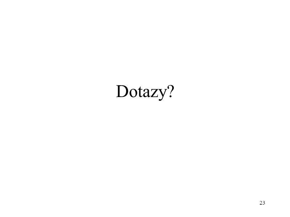 23 Dotazy?