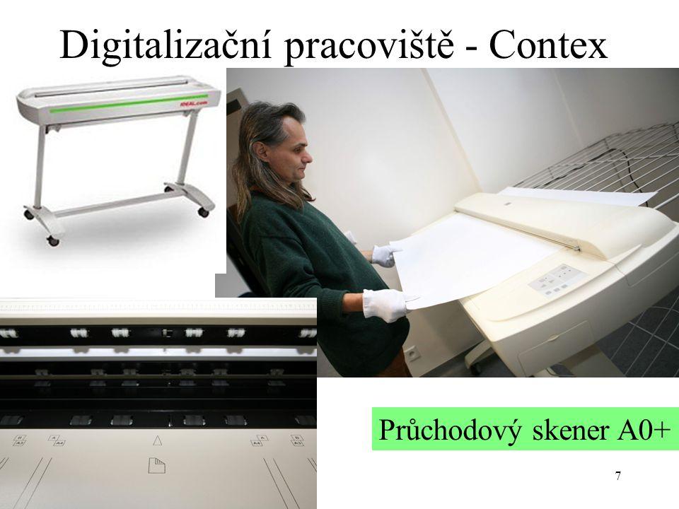 7 Digitalizační pracoviště - Contex Průchodový skener A0+