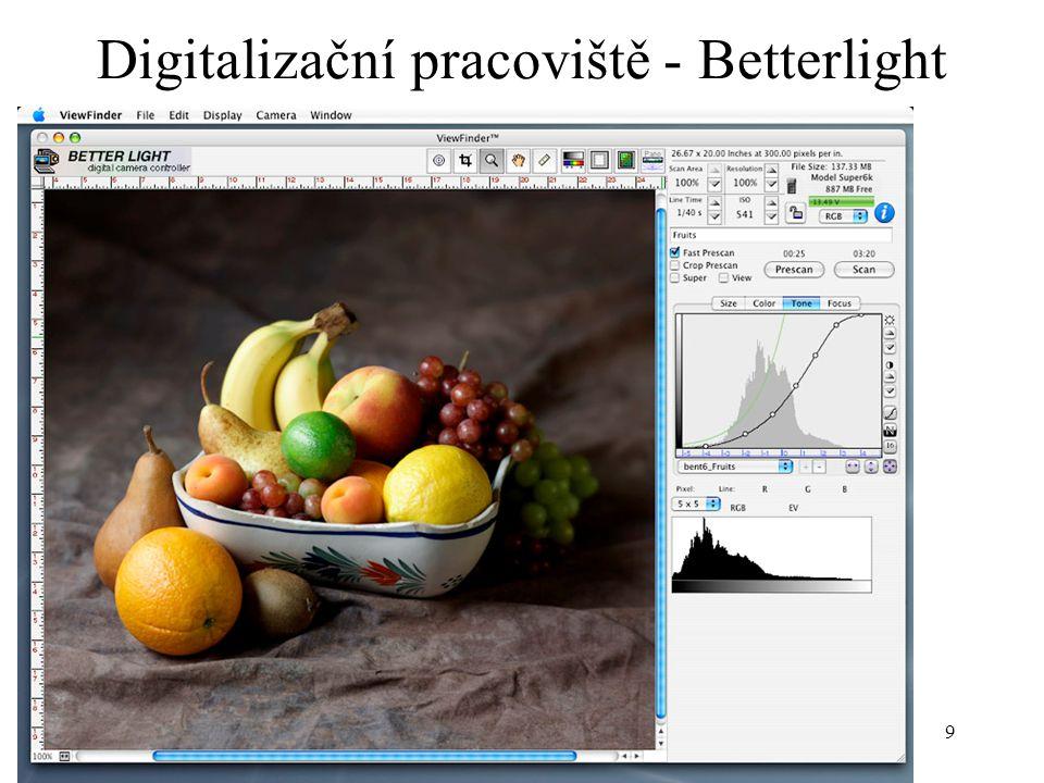 9 Digitalizační pracoviště - Betterlight