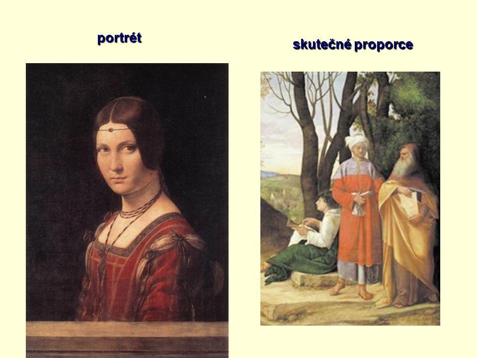 skutečné proporce portrét