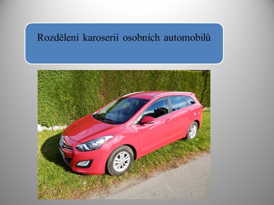 Karoserie osobních automobilů mají společný prostor pro řidiče i obsluhu vozidla.