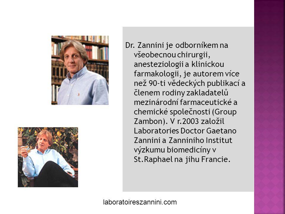 Gaetano Zannini Créateur de soins naturels Dr. Zannini je odborníkem na všeobecnou chirurgii, anesteziologii a klinickou farmakologii, je autorem více