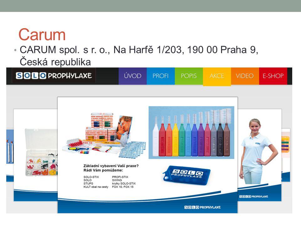 Carum CARUM spol. s r. o., Na Harfě 1/203, 190 00 Praha 9, Česká republika