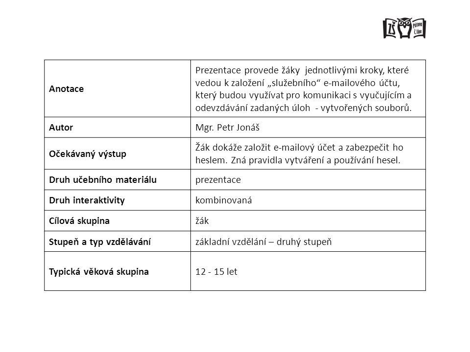 1. Zadejte adresu www.google.cz 2. Vyberte si z jeho nabídky Gmailwww.google.cz
