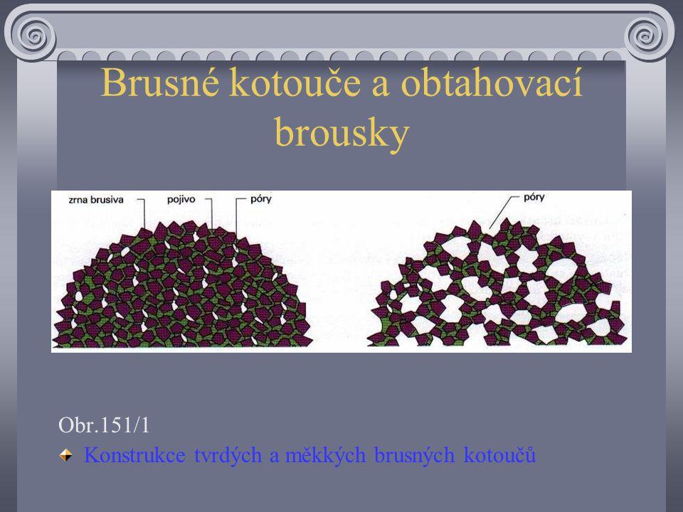 Brusné kotouče a obtahovací brousky Brusné kotouče s ocelovými břity jsou spojovány většinou keramicky. Keramickou vazbu lze vyrábět v různých stupníc