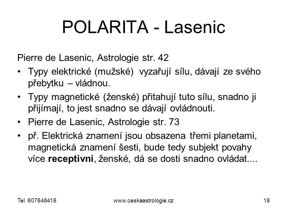 POLARITA - Lasenic Pierre de Lasenic, Astrologie str.