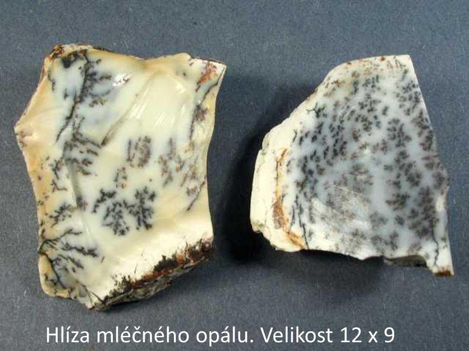 Hlíza mléčného opálu. Velikost 12 x 9
