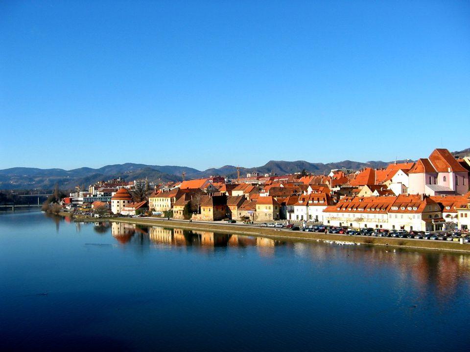 Maribor pod hradem Markburg 1254- zisk městských práv od konce 19. století- název Maribor 1961- universita velká železniční křižovatka a dálnice na Zá