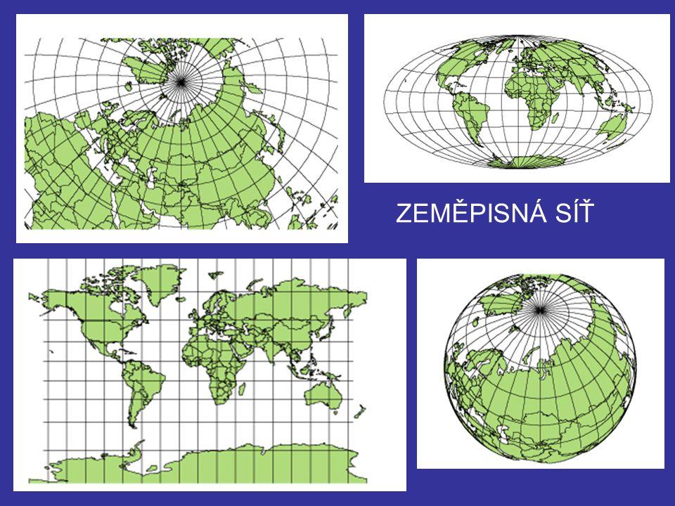 Zeměpisná šířka určuje polohu na povrchu Země směrem k severu nebo jihu od rovníku.