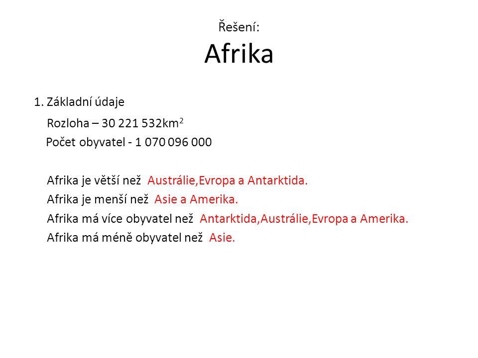 Řešení: Afrika 1.