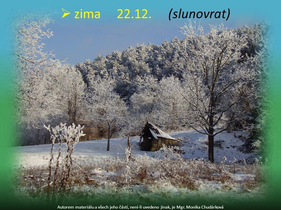 Autorem materiálu a všech jeho částí, není-li uvedeno jinak, je Mgr. Monika Chudárková  zima22.12. (slunovrat)