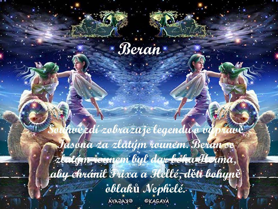 Beran Souhv ě zdí zobrazuje legendu o výprav ě Iasona za zlatým rounem.