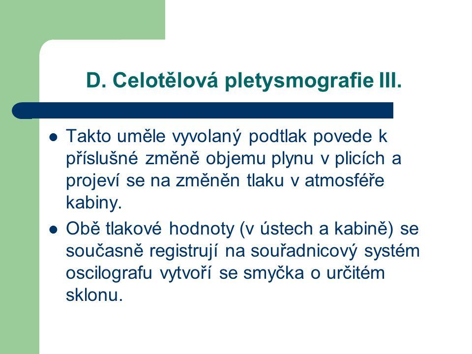 D.Celotělová pletysmografie III.