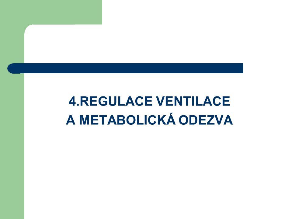 4.REGULACE VENTILACE A METABOLICKÁ ODEZVA