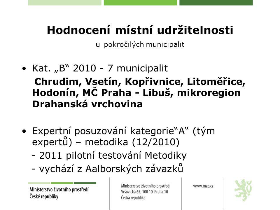 Hodnocení kategorie A Audit (sebehodnocení municipality) - 10 témat UR (do 31.1) - max.
