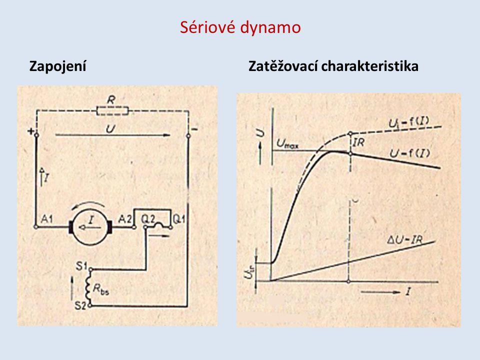 Sériové dynamo ZapojeníZatěžovací charakteristika