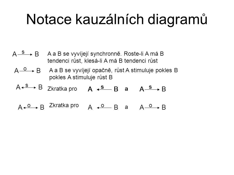 Notace kauzálních diagramů AB A a B se vyvíjejí synchronně.