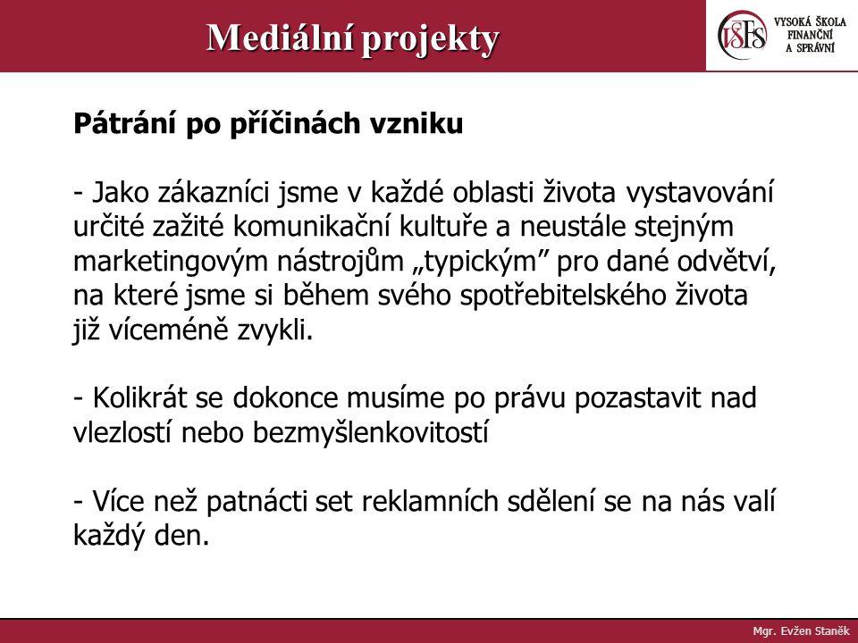 Mgr. Evžen Staněk Mediální projekty Všeobecně uznávaná definice guerillového marketingu neexistuje Kde se vlastně vzal pojem guerillový marketing? Kdy