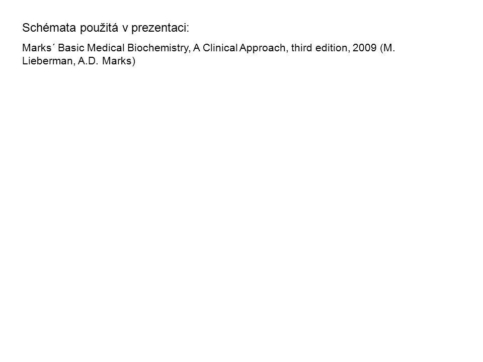 Schémata použitá v prezentaci: Marks´ Basic Medical Biochemistry, A Clinical Approach, third edition, 2009 (M. Lieberman, A.D. Marks)