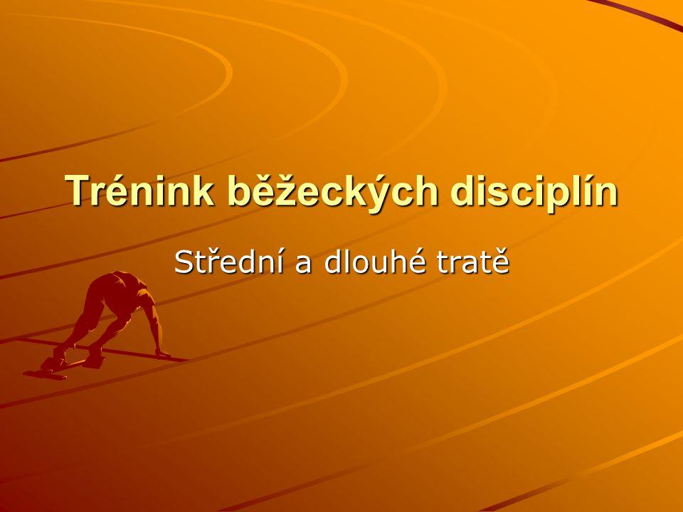 Dělení běžeckých atletických disciplín 1) běhy hladké - sprinty (0-400m) - střední tratě (800 – 1500m) - dlouhé tratě (nad 1500m) 2) běhy překážkové - krátké (60,100,110př.) - dlouhé (3000m př.) 3) rozestavěné – štafety (4x100,4x400 atd.)