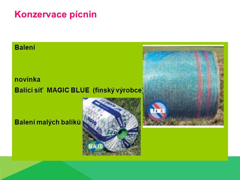 Konzervace pícnin Balení novinka Balící síť MAGIC BLUE (finský výrobce) Balení malých balíků
