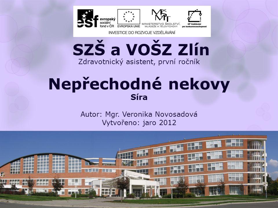 Zdravotnický asistent, první ročník Nepřechodné nekovy Síra Autor: Mgr.