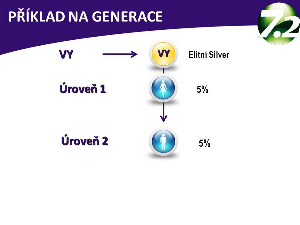 VY VY Elitní Silver Úroveň 1 Úroveň 1 5% Úroveň 2 Úroveň 2 PŘÍKLAD NA GENERACE VY