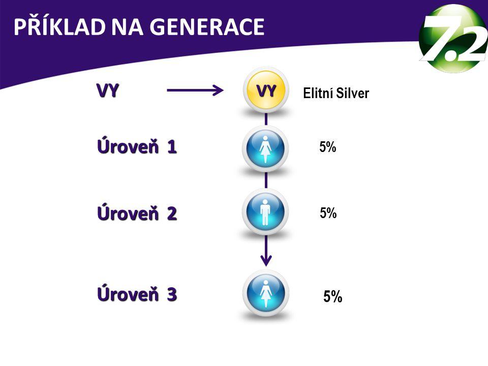 VY VY Elitní Silver 5% Úroveň 3 Úroveň 3 Úroveň 1 Úroveň 1 5% Úroveň 2 Úroveň 2 5% PŘÍKLAD NA GENERACE VY