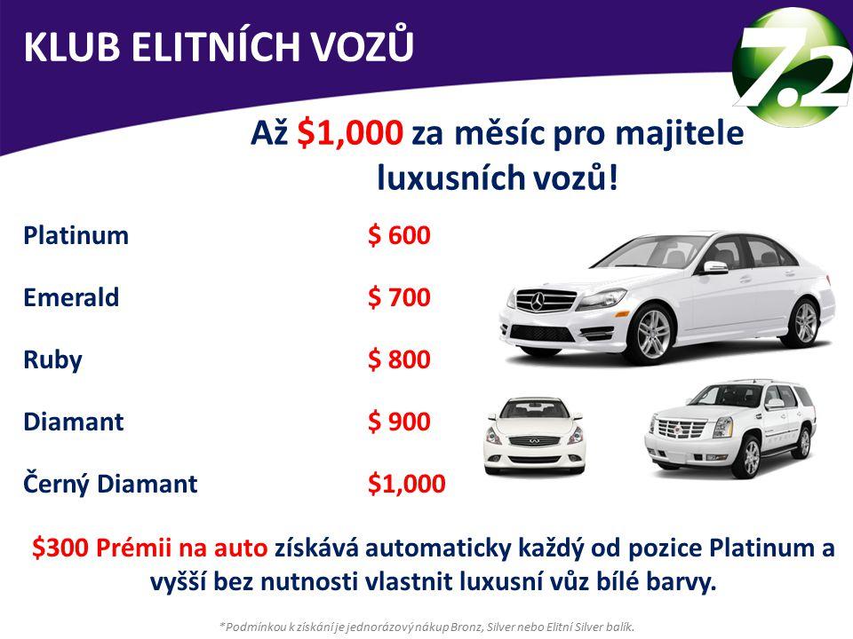 KLUB ELITNÍCH VOZŮ Až $1,000 za měsíc pro majitele luxusních vozů.