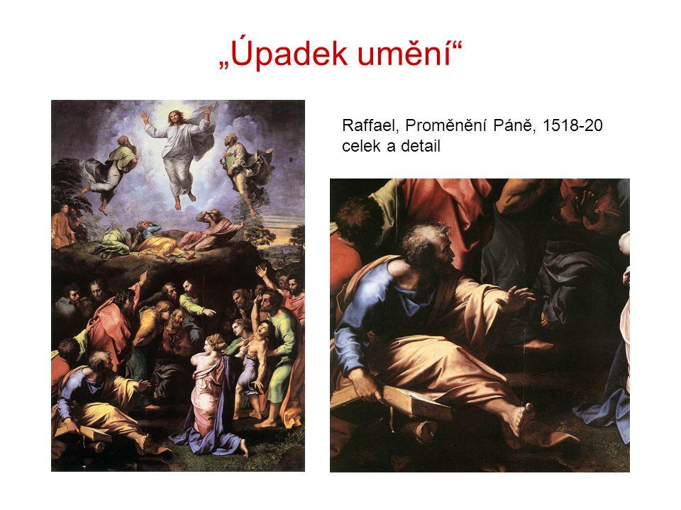 """""""Úpadek umění"""" Raffael, Proměnění Páně, 1518-20 celek a detail"""
