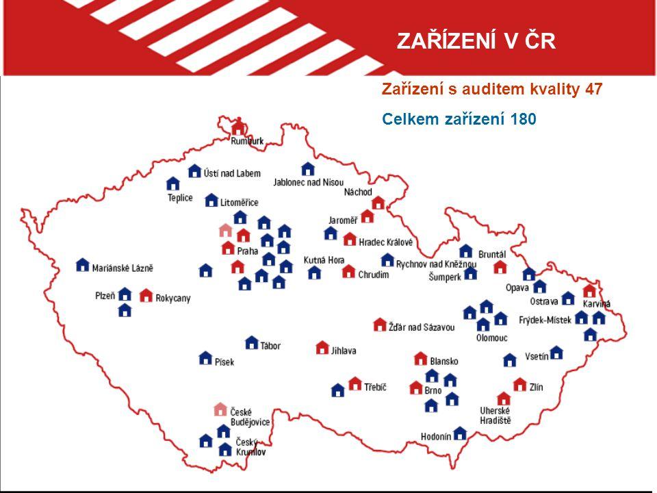 ZAŘÍZENÍ V ČR Zařízení s auditem kvality 47 Celkem zařízení 180