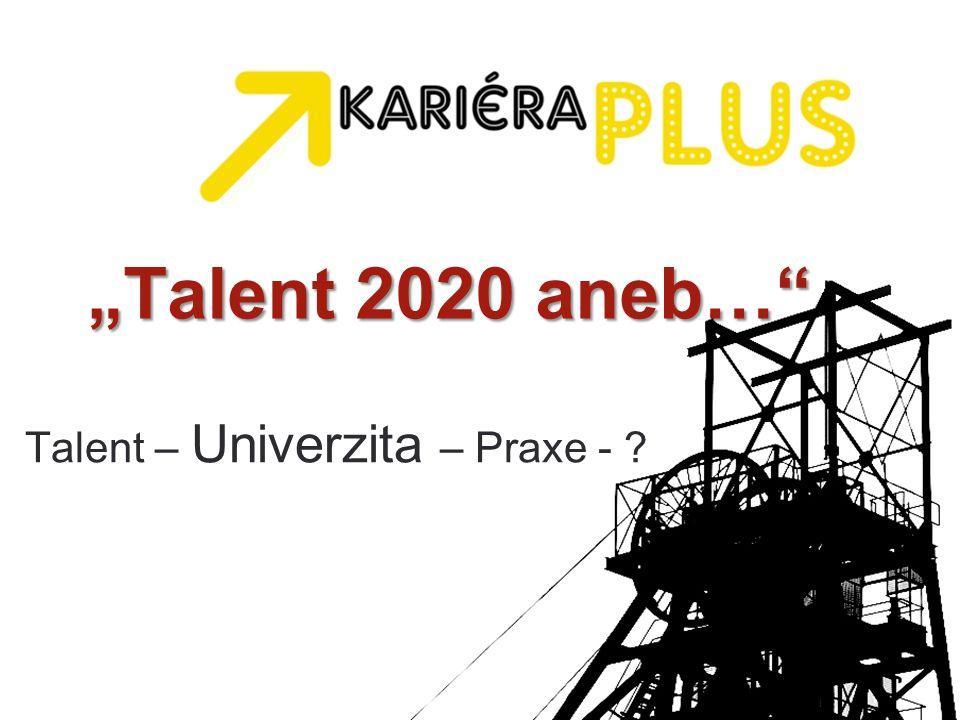"""Talent 2020 aneb… Talent – Univerzita – Praxe -"