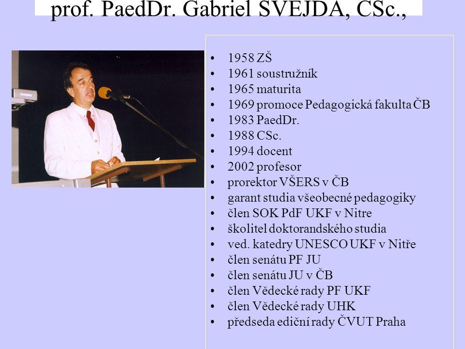 prof. PaedDr.