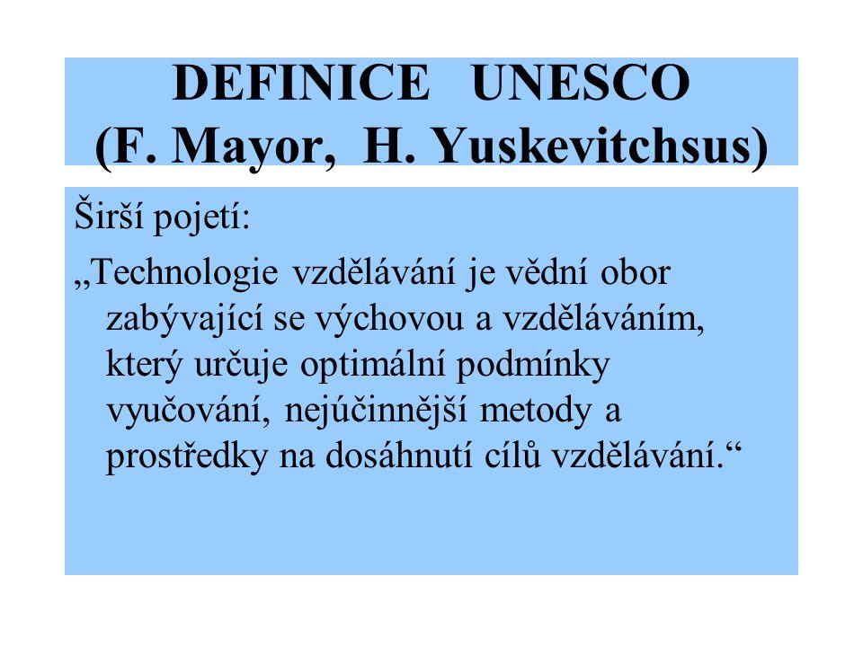 DEFINICE UNESCO (F. Mayor, H.