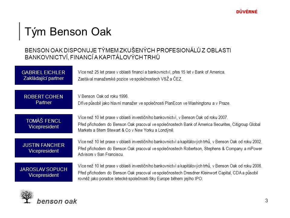 DŮVĚRNÉ benson oak 3 Tým Benson Oak Více než 25 let praxe v oblasti financí a bankovnictví, přes 15 let v Bank of America. Zastával manažerské pozice